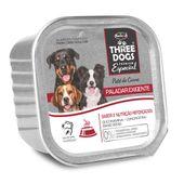 Alimento-Umido-Three-Dogs-Caes-Adultos-Paladar-Pate-Carne
