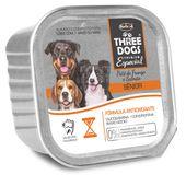 Alimento-Umido-Three-Dogs-Caes-Senior-Pate-Frango-e-Salmao