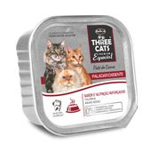 Alimento-Umido-Three-Cats-Gatos-Paladar-Pate-Carne