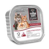 Alimento-Umido-Three-Cats-Gatos-Paladar-Pate-Carne