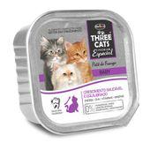Alimento-Umido-Three-Cats-Gatos-Filhotes-Pate-Frango