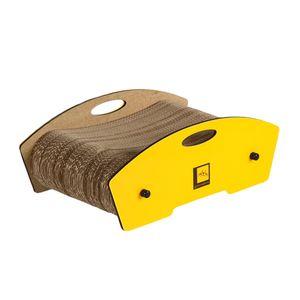 Arranhador-Bolsa-Amarelo-Gato-Morderno