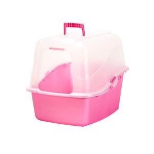 Banheiro-Translucido-para-Gato-Rosa-Petmate