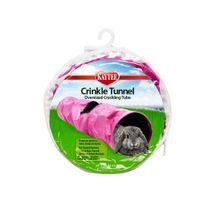Cama-Crinkle-Tunel-para-Pequenos-Animais-Rosa-SuperPet