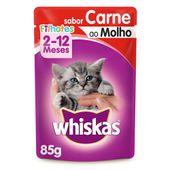 Alimento Úmido Whiskas Carne ao Molho Filhotes