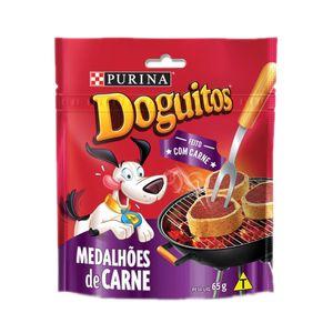 Petisco Cães Doguitos Medalhões de Carne Purina 65g