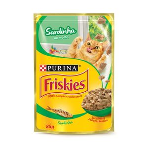 Ração Úmida Nestlé Purina Friskies Sardinha ao Molho Gatos Adultos 85g