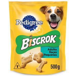 Biscoito Pedigree Biscrok Para Cães Adultos Raças Pequenas