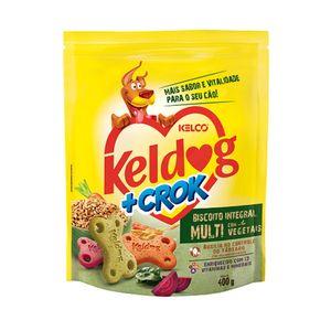 Biscoito Keldog + Crock Integral Multi Com Vegetais Kelco - 400g