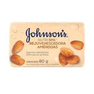 Sabonete em Barra Johnson's Nutri SPA Rejuvenescedora Amêndoas 80g