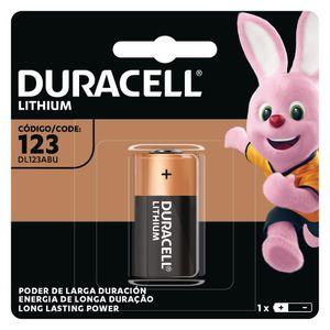 Bateria Duracell de Lítio CR 123 3V