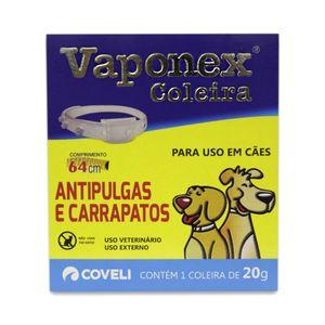 Coleira Antipulgas e Carrapatos Vaponex Coveli - 64 cm