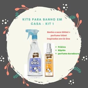 Kit promocional Banho a seco 500ml + perfume Carinho Bom 120ml