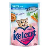 Alimento Umido Kelcat Peixe Ervilha e Cenoura 3953970