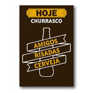 Placa Decorativa Frase Bebidas Mdf 20x30 cm
