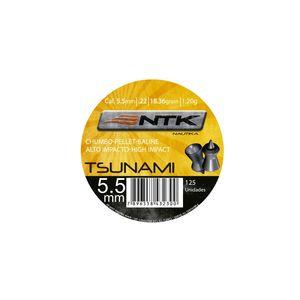 Chumbinho NTK Tsunami - Chumbinho NTK Tático para tiro esportivo de alto impacto e penetração de calibre 5,5 mm Tsunami