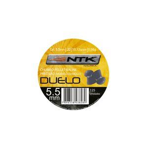 Chumbinho NTK Tático Duelo - Chumbinho NTK Tático para tiro esportivo de alta estabilidade e precisão de calibre 5,5 mm Duelo