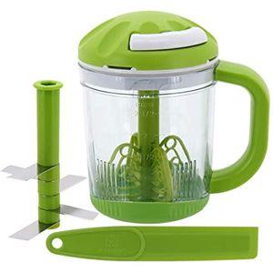 Mini Processador Manual de Alimentos Cooper 15cm 625ml Verde Plástico e Inox 4 Peças