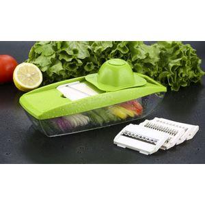 Mandoline - Fatiador Legumes e Frutas 5 laminas aço inox - o original