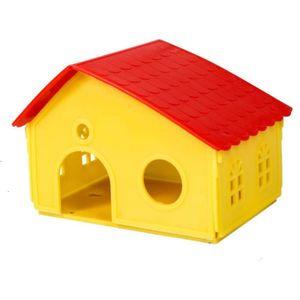 Casinha Plástica para Hamster PetRoe Jel Plast - Amarelo