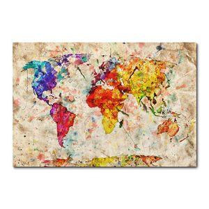 Placa Decorativa - Mapa Mundi - 2290plmk