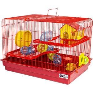 Gaiola para Hamster Big Space Completa Jel Plast - Vermelho
