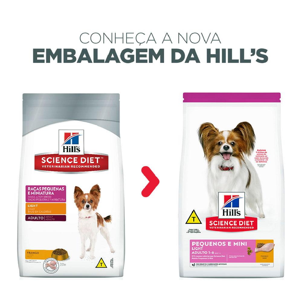 Ração Hill's Cães Adultos Light Raças Pequenas e Mini