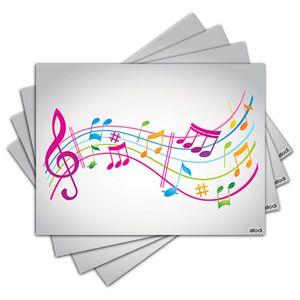 Jogo Americano - Musica - 4 Peças