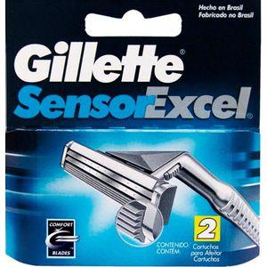Carga Gillette Sensor Excel c/ 2 Unidades