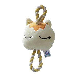 Brinquedo Pelúcia Unicórnio com Cordão Amarelo C-Pet